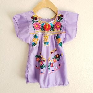 Mexican Embroidered Toddler Dress
